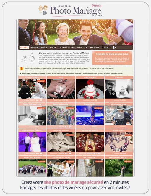Création d'un site de mariage sécurisé pour partager vos photos avec vos invités