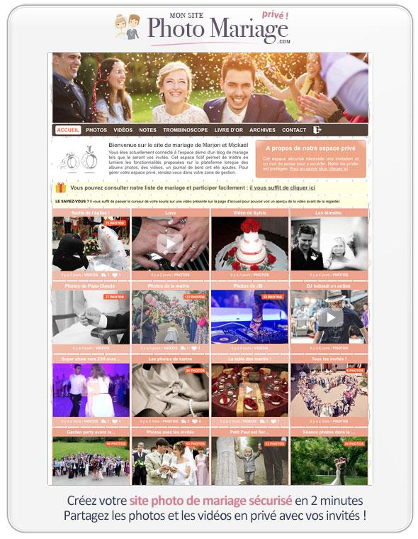 Un blog de mariage pour partager de façon sécurisé avec ses invités