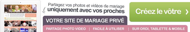 Votre faire-part de mariage en ligne : votre site de mariage privé pour partager avec vos invités