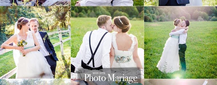Exemple de site de mariage sympa avec partage photos sécurisé