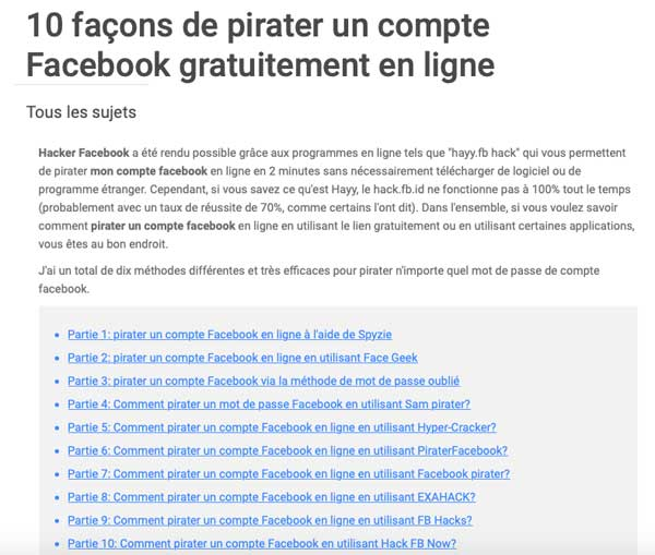 Attention aux piratages sur Facebook