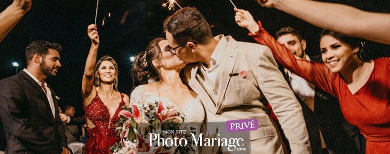 Une plateforme de partage privée permet de choisir à qui l'on veut montrer ses souvenirs de mariage